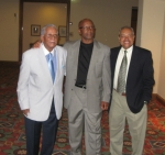 Herbert Spears, John Wilcox, and James Young waiting for the banquet.